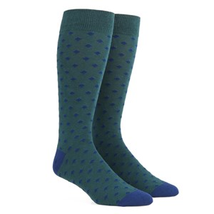 diamonds hunter green dress socks