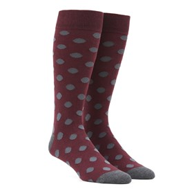 Burgundy Common Dots mens socks