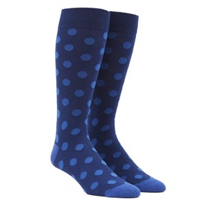 common dots classic blue dress socks