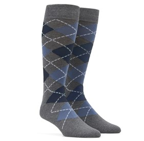 Argyle Slate Blue Men's Socks