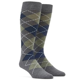 Sage Green Argyle mens socks