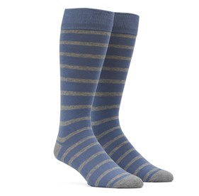 Slate Blue Trad Stripe mens socks