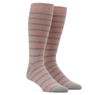 trad stripe blush dress socks