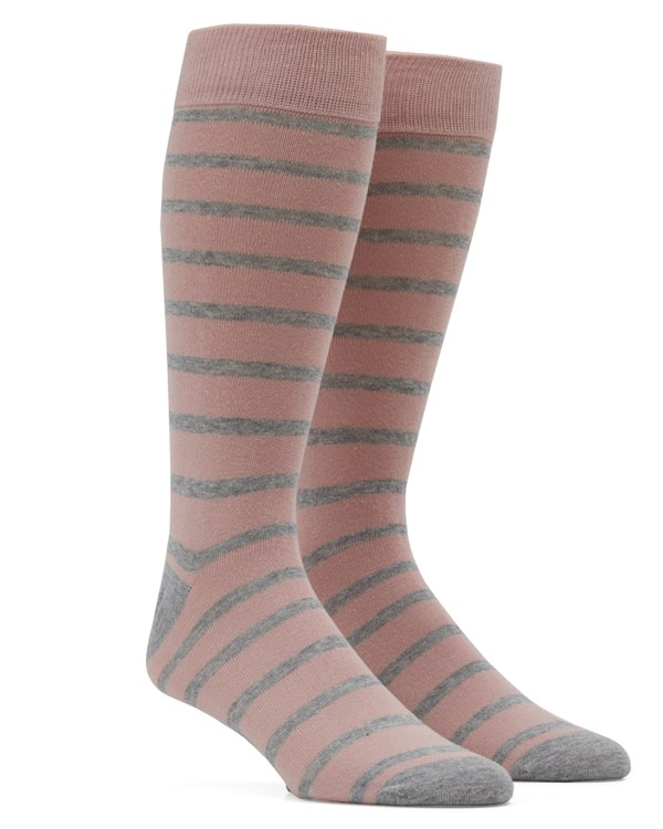 Trad Stripe Blush Socks