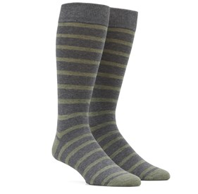 Sage Green Trad Stripe mens socks