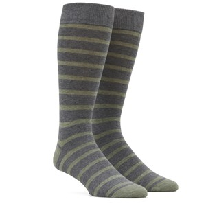 trad stripe sage green dress socks