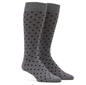 Burgundy Circuit Dots mens socks