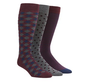 Burgundy The Burgundy Sock Pack mens socks