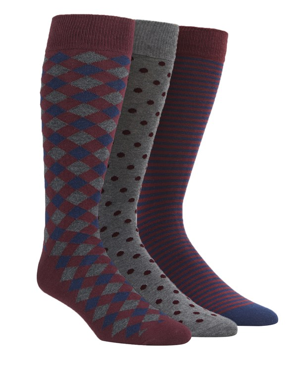 The Burgundy Sock Pack Socks
