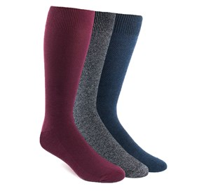 Blue Solid Texture Sock Pack mens socks