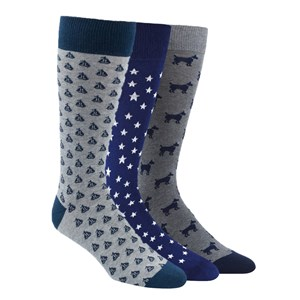 the novelty sock pack navy dress socks
