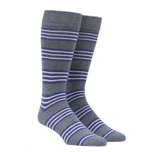 new prep stripe grey dress socks