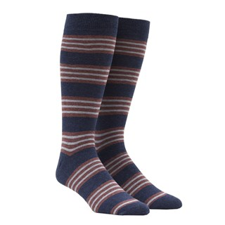 new prep stripe navy dress socks