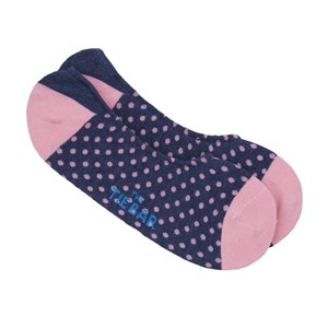pindot no-show classic navy dress socks