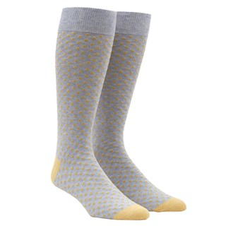 Pindot Yellow Dress Socks