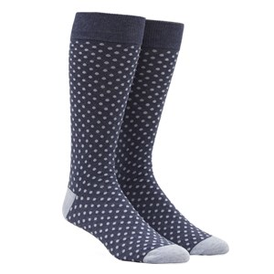 pindot true navy dress socks
