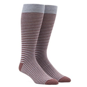 thin stripes light blue dress socks