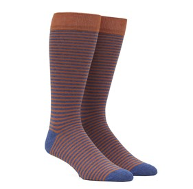 Orange Thin Stripes mens socks