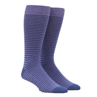 Thin Stripes Lavender Dress Socks
