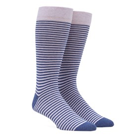 Pink Thin Stripes mens socks