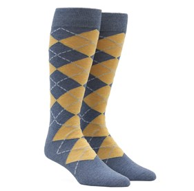 Yellow New Argyle mens socks