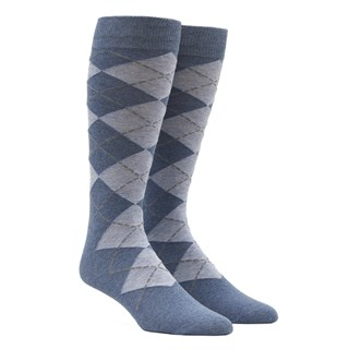 new argyle light blue dress socks