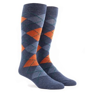 argyle burnt orange dress socks