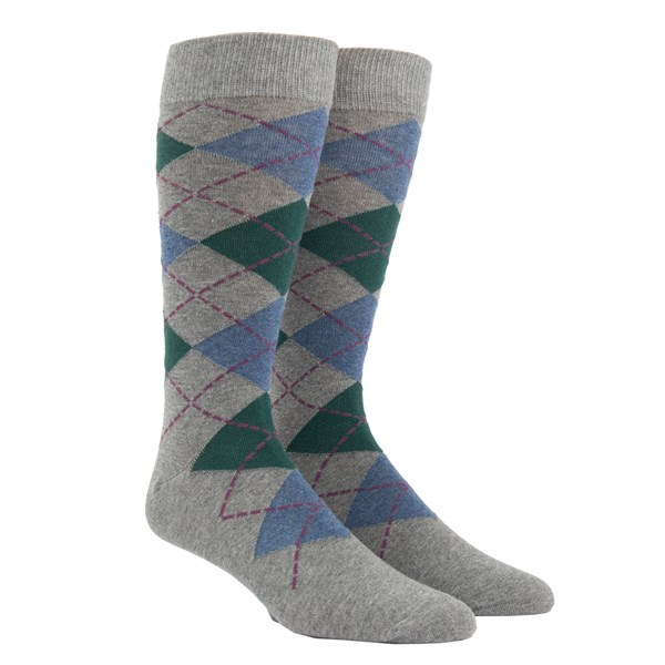 Hunter Green Argyle Socks