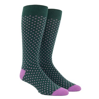 Pindot Hunter Green Dress Socks