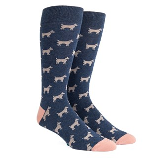 dog days classic navy dress socks