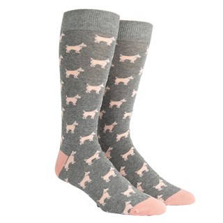 dog days grey dress socks