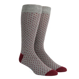 pindot charcoal dress socks