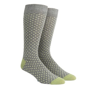 pindot warm grey dress socks
