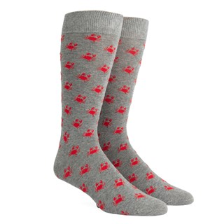 crab walk grey dress socks