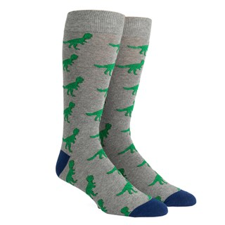 dinosaurs grey dress socks
