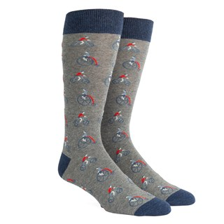 cycle time grey dress socks