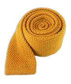 Ties - Knit Solid Wool - Yellow Daisy