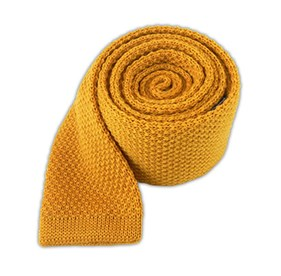 Yellow Daisy Knit Solid Wool ties