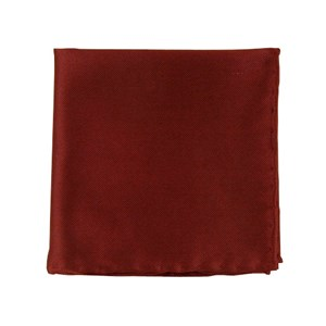 solid twill burgundy pocket square