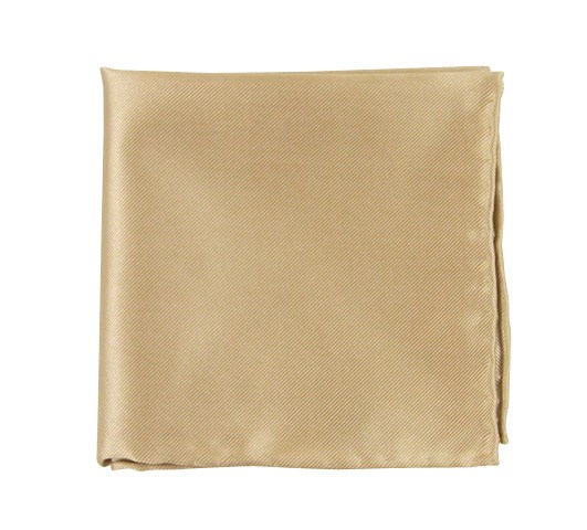 Light Champagne Solid Twill Pocket Square