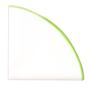 white cotton round with border apple green pocket square