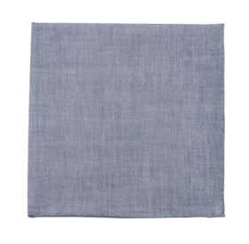 Warm Blue Classic Chambray pocket square