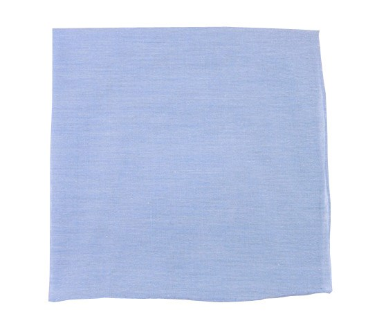 Sky Blue Classic Chambray Pocket Square