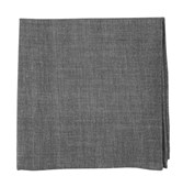 "Classic Chambray - Soft Grey - 13"" x 13"" - Pocket Squares"
