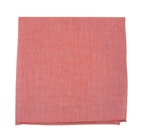 Red Classic Chambray pocket square