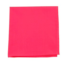Fuchsia Solid Cotton pocket square
