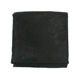 Black Designer Paisley pocket square