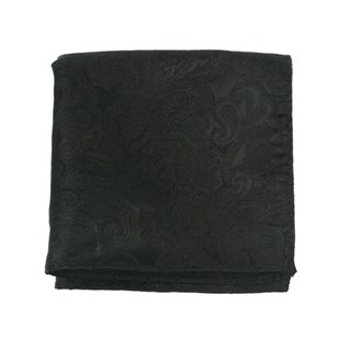 Designer Paisley Black Pocket Square