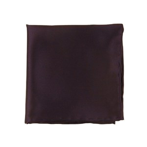 solid twill eggplant pocket square