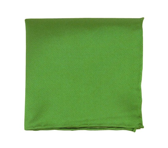 Kelly Green Solid Twill Pocket Square